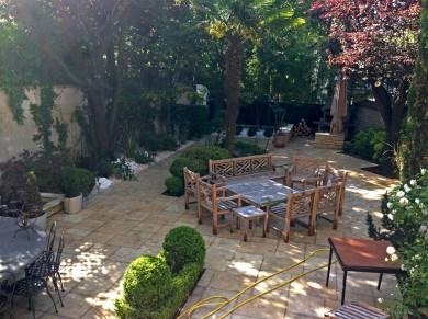 Refection totale du jardin, mobilier de jardin de prestige