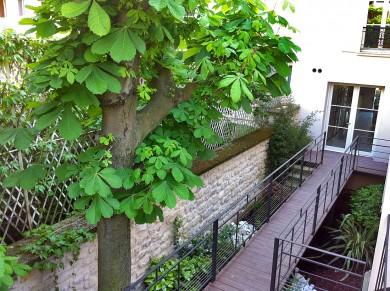 Aménagement passage interne dans un patio