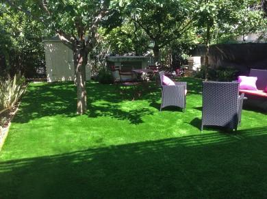 réfection totale du jardin avec nouveau mobilier style salon lounge detente
